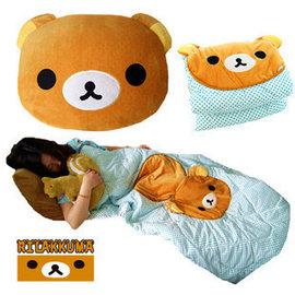 =優生活=拉拉熊抱枕被 靴下貓空調被 抱枕兩用 創意夏涼被車用被子
