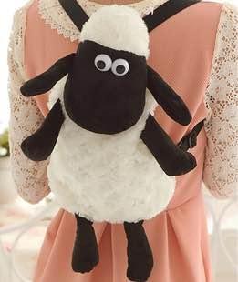 =優生活=Shaun the Sheep小羊肖恩 笑笑羊公仔 娃娃後背包 小羊兒童包包 羊造型包包