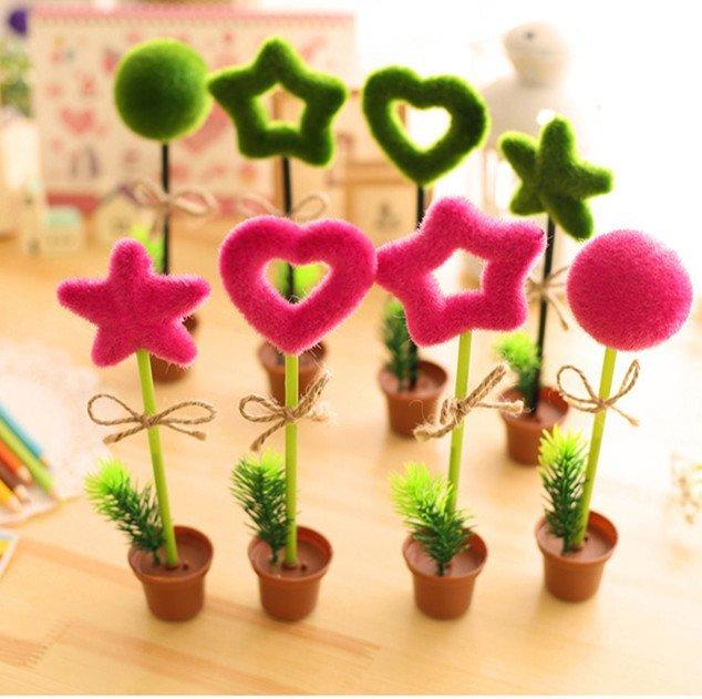 =優生活=韓國創意文具 個性仿真植物原子筆 可愛綠色盆景裝飾筆 婚禮小物 第二進場小物 創意贈品