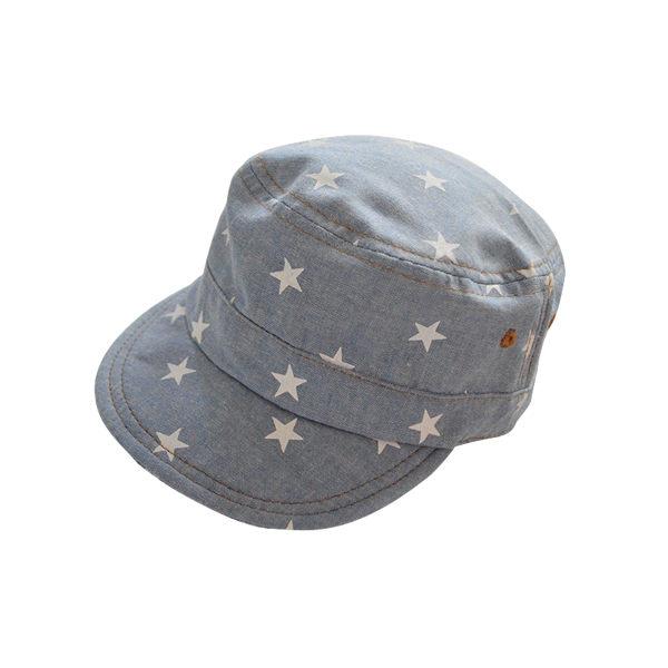 EMMA商城~外貿原單牛仔星星棒球帽全棉小軍帽防曬帽兒童帽子
