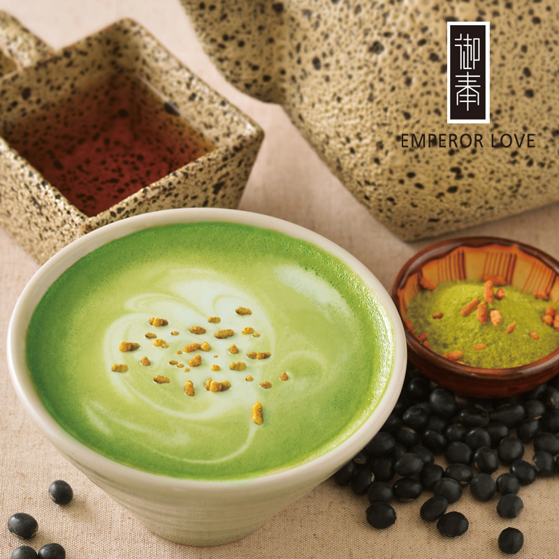 【御奉】黑豆玄米抹茶拿鐵Black Beans and Roasted Rice Matcha Latte-原葉研磨茶粉21g*12入