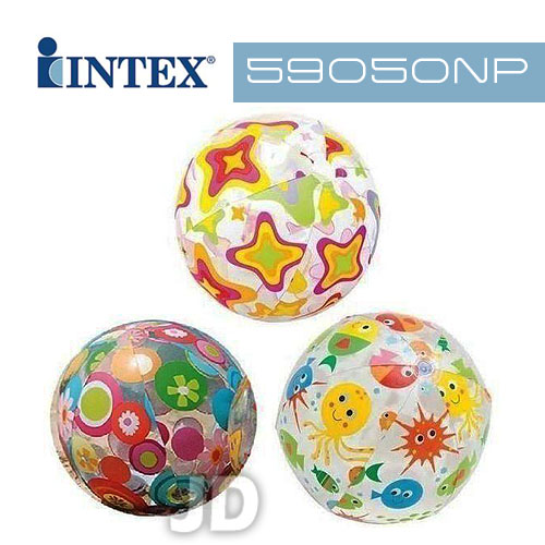 【INTEX】24吋圖案沙灘球 (圖案隨機出貨) 59050NP