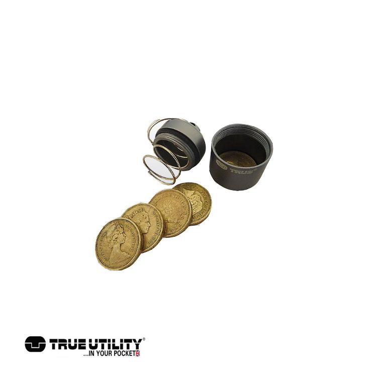 TRUE UTILITY CoinStash防水硬幣彈型收納罐/城市綠洲(戶外、工具組、鑰匙圈、英國)