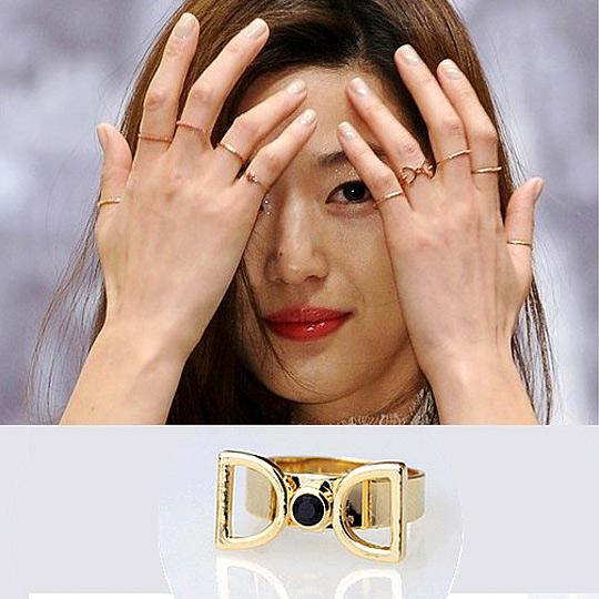 太妃糖 韓國來自星星的你千頌伊領結造型戒指