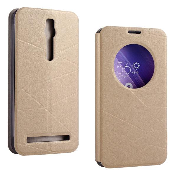華碩Zenfone 2 5.0吋 保護套 天窗系列皮套 ZE500ML智能休眠喚醒支架手機套