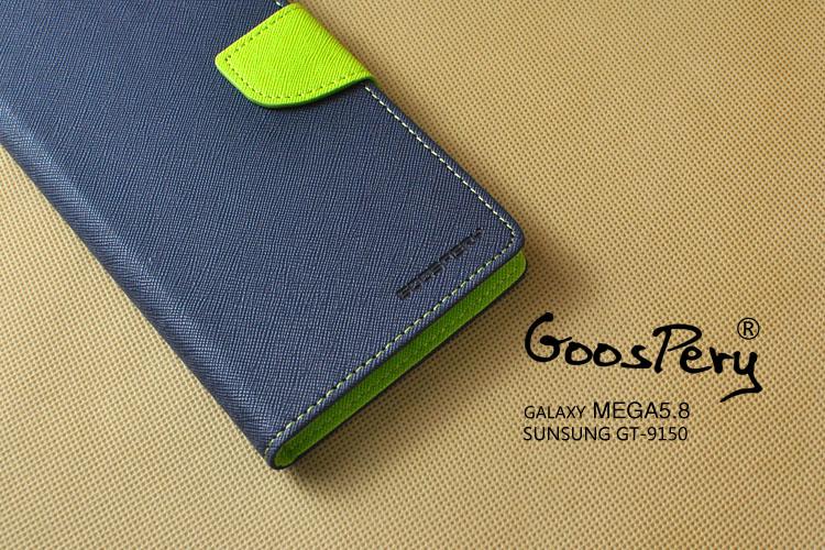 ☆三星Galaxy Mega 5.8 i9150 韓國 MERCURY GOOSPERY 撞色手機皮套 SAMSUNG Mega 5.8 i9152 雙色皮套【清倉】