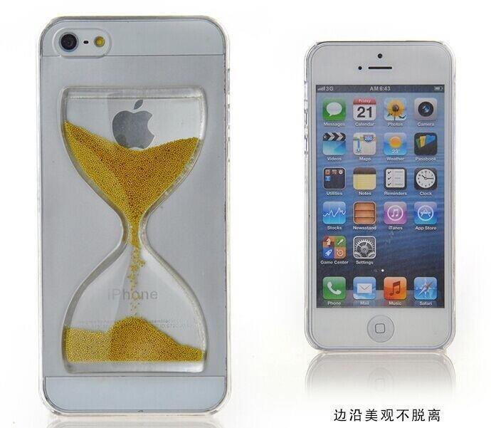 蘋果iPhone4/4S 保護套 SL002沙漏手機殼 流沙手機外殼 Apple iPhone4S水晶透明保護殼【預購】
