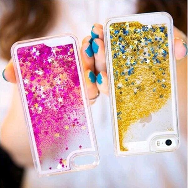 蘋果iPhone4/4S 保護套 SL003星星流沙手機殼 液體流沙手機外殼 透明保護殼