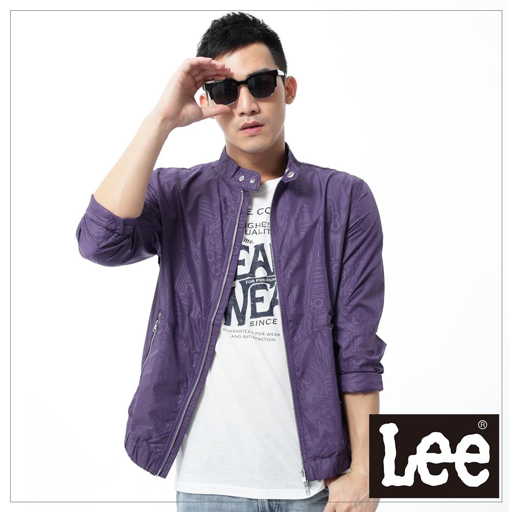 【Super Sales 外套下殺↘2.5折】Lee 長袖外套 拉鍊防風薄外套 -男款(紫)