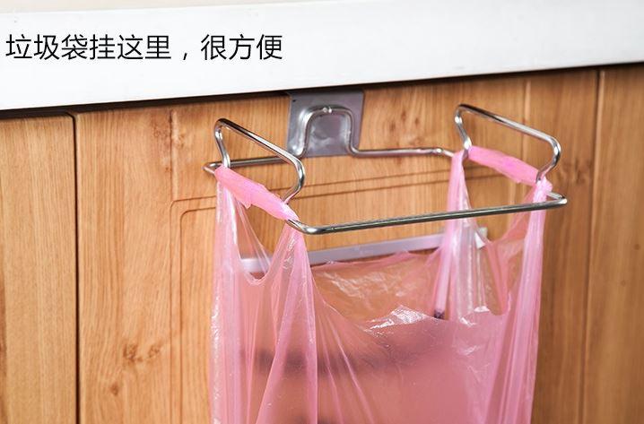 廚房多功能架子垃圾袋掛架創意門背式79元