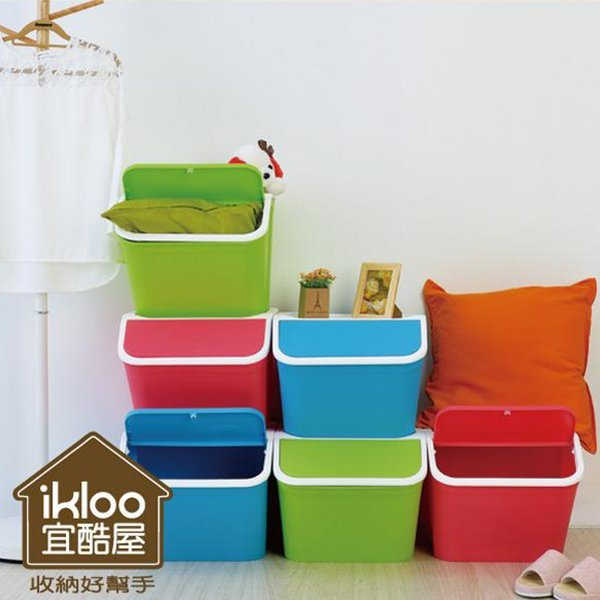 BO雜貨【YV5134】ikloo掀蓋收納箱 整理箱 收納盒 置物箱 分類箱 掀蓋式 玩具箱 衣物收納
