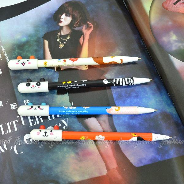 耳?動物原子筆 造型中性筆-藍色 原子筆 原珠筆【GC264】◎123便利屋◎