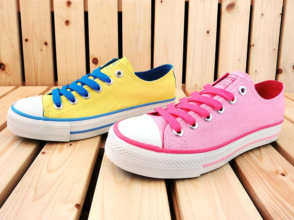 Arriba AB7062 休閒鞋 懶人鞋 便鞋 帆布鞋 桃紅色款/黃色款 女鞋
