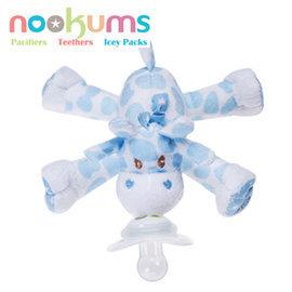 *babygo*美國 nookums 安撫奶嘴玩偶-藍頸鹿00235