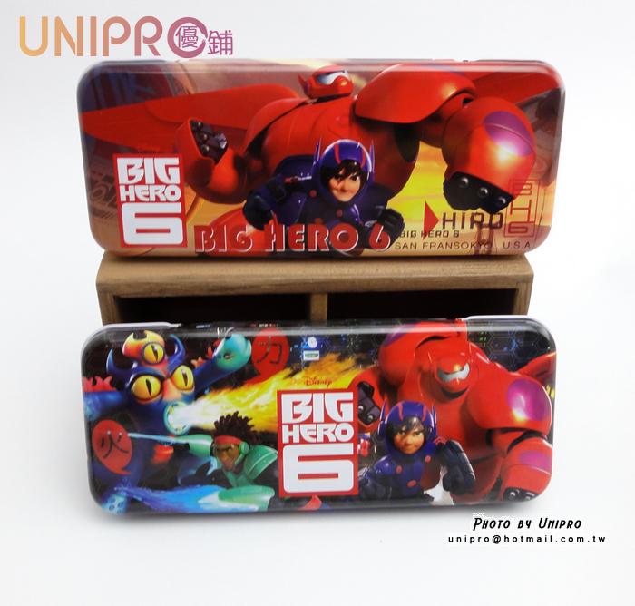 【UNIPRO】迪士尼 大英雄天團 Big Hero 6 杯麵 Hiro 雙層鐵製 鉛筆盒 置物盒 開學用品 正版