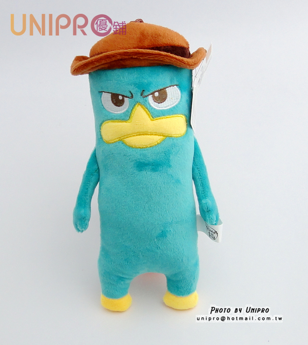 【UNIPRO】迪士尼 泰瑞鴨 7吋 絨毛玩偶 造型長抱枕 娃娃 布偶 飛哥與小佛 吊飾