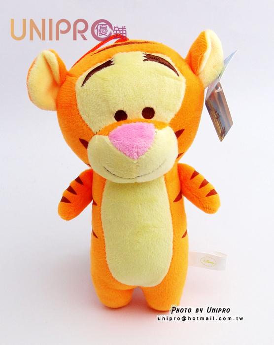 【UNIPRO】迪士尼 跳跳虎 Tigger 7吋 絨毛玩偶 造型長抱枕 小熊維尼 娃娃 布偶 吊飾