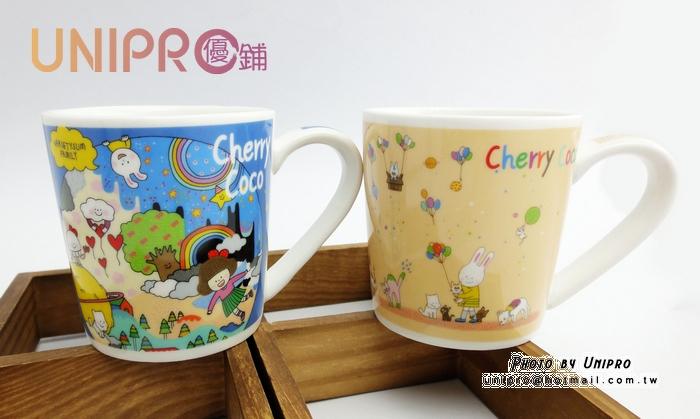 【UNIPRO】日貨 LINE人氣貼圖 CHERRY COCO 櫻桃可可 陶瓷馬克杯 咖啡杯 經典馬克杯 禮物