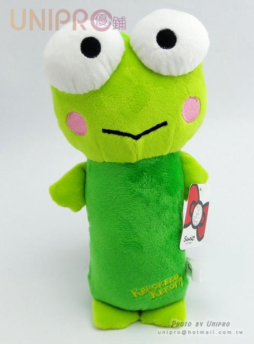 【UNIPRO】迪士尼 三麗鷗 sanrio 大眼蛙 7吋 絨毛玩偶 啾啾 長抱枕造型 娃娃 布偶 吊飾