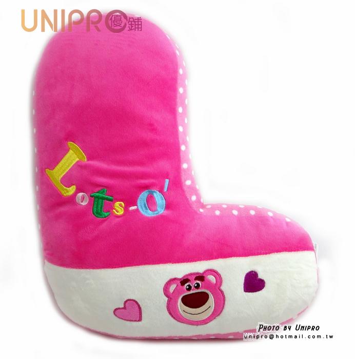 【UNIPRO】迪士尼 卡通字母枕 Lotso 字母 L 玩具總動員3 Toy3 熊抱哥 午安枕 抱枕 墊靠 抱枕