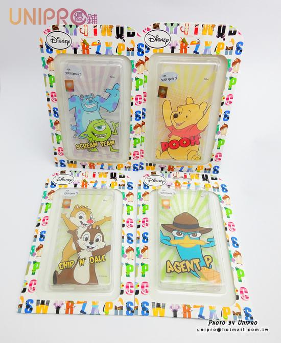 【UNIPRO】迪士尼 SONY Xperia Z2 維尼 奇奇蒂蒂 怪獸大學 泰瑞 Q版 TPU 透明 手機殼 保護套