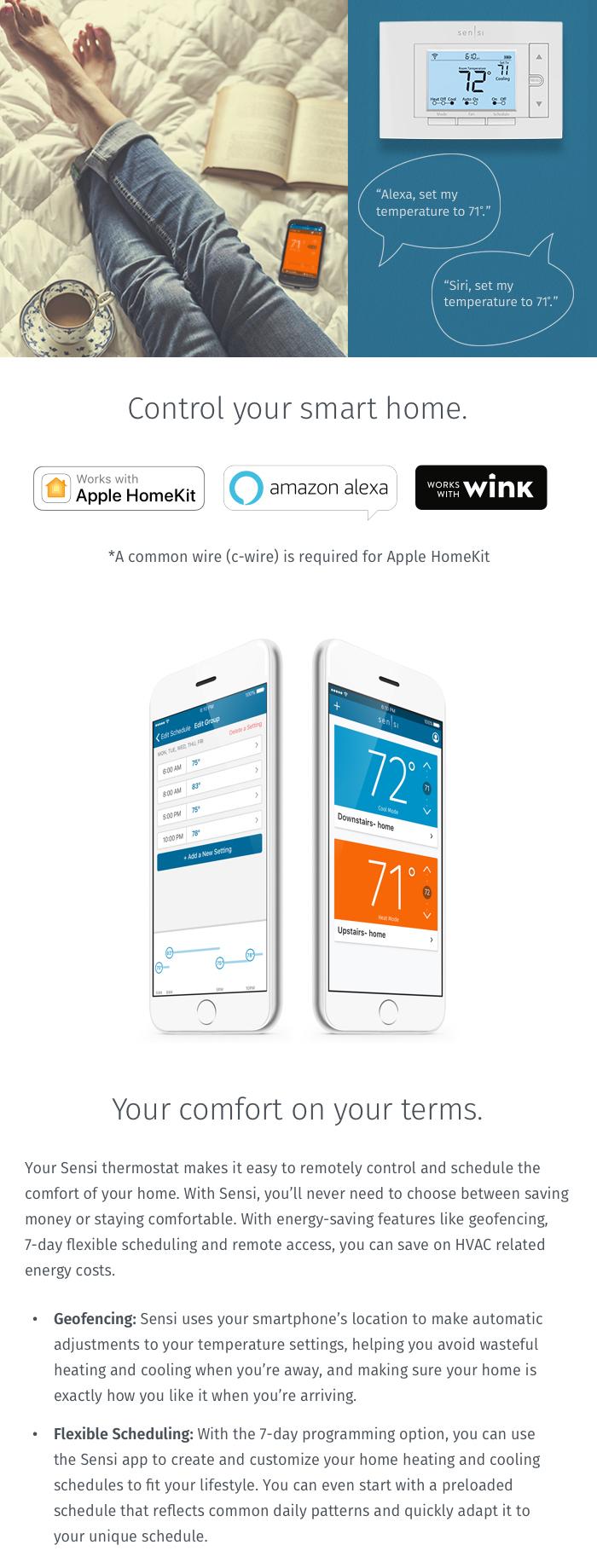 Emerson Thermostats: Emerson Sensi Wi-Fi Thermostat for Smart Home ...
