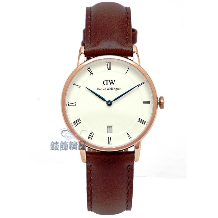 【錶飾精品】現貨Daniel Wellington瑞典 DW00100091/1130DW Dapper St Mawes 34mm 玫瑰金 全新原廠正品