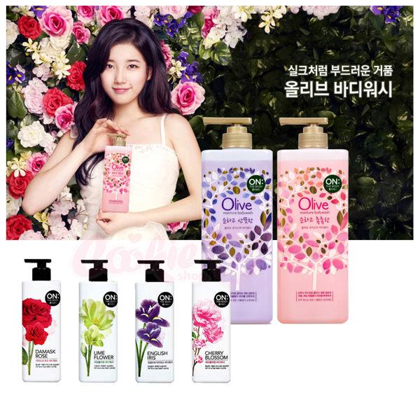韓國On The Body Olive天然橄欖潤澤沐浴精/花香沐浴精(900g) 多款可選