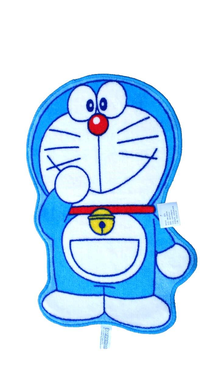 【真愛日本】16091500008造型止滑地墊-站姿微笑單招手 Doraemon 哆啦A夢 小叮噹 腳踏墊 寢具用品