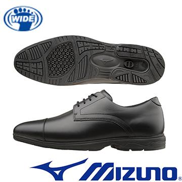 B1GC162109 (黑) WAVE LD40 ST2 BUSINESS WALKING 正式穿著時尚設計的寬楦健走鞋【美津濃MIZUNO】