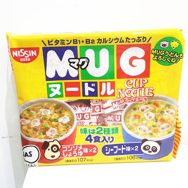 日本 日清 馬克杯麵 4入 清湯醬油 海鮮 泡麵 日本製造進口 * JustGirl *