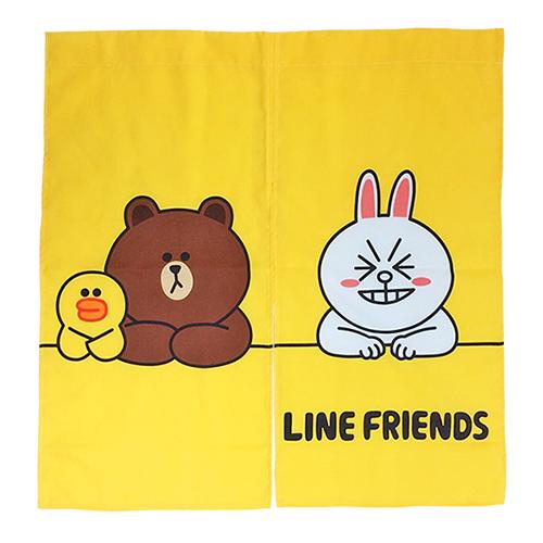 【享夢城堡】LINE FRIENDS 開心排排坐 門簾