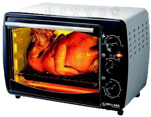 ?皇宮電器? 鍋寶 18L多功能電烤箱 OV-1802-D. 100~250C溫度控制 0~60分設計