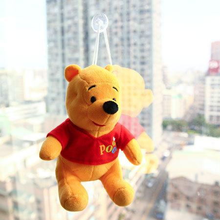 正版小熊維尼吸盤坐姿娃娃(18cm) 布偶 玩偶 抱枕 玩具 禮物 維尼 維尼熊 迪士尼【N200289】