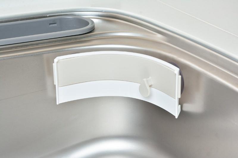 『日本代購品』leye 廚房小工具 吸盤式垃圾袋收納架 簡易垃圾桶 米白色 日本製