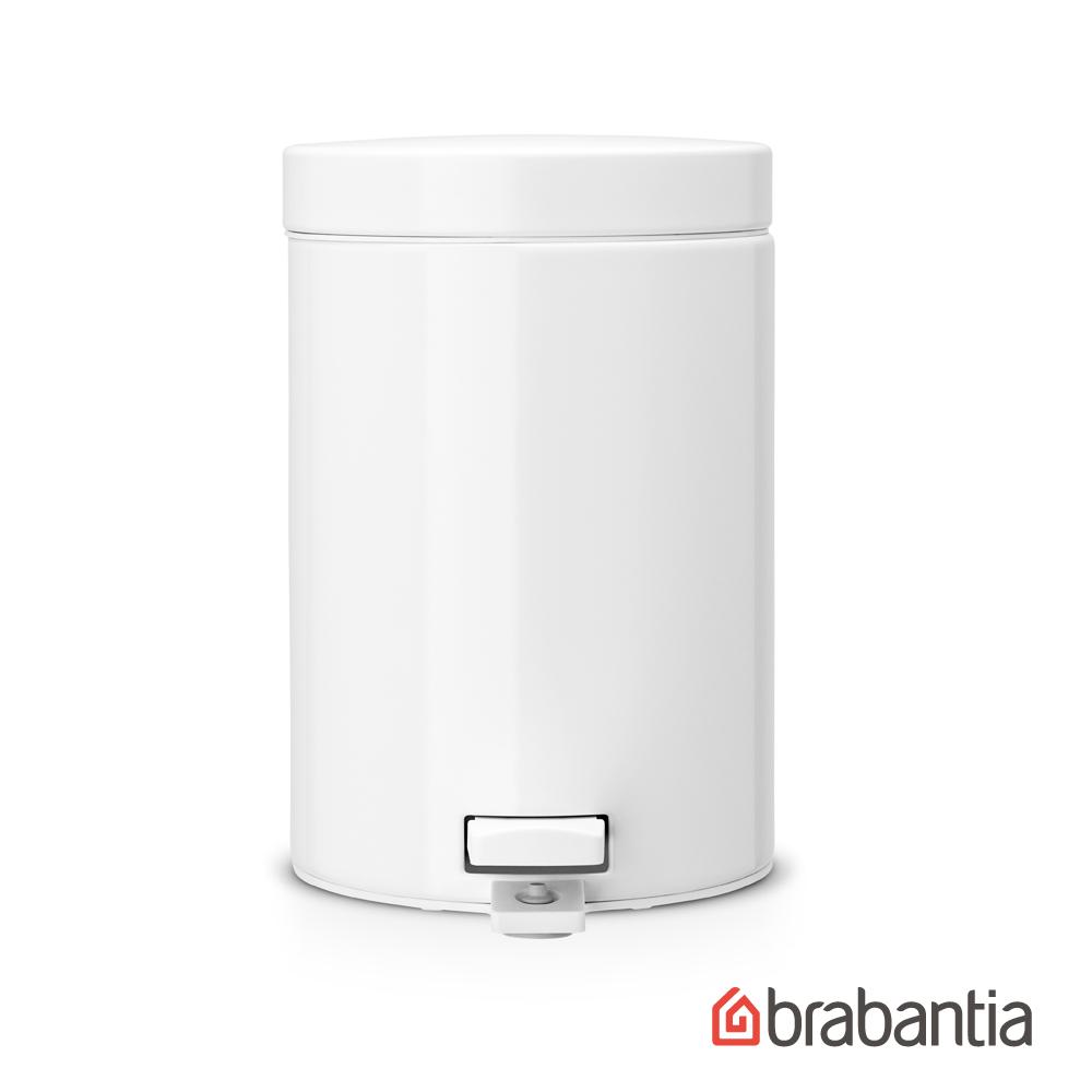 【荷蘭BRABANTIA】白色輕巧腳踏式垃圾桶3L