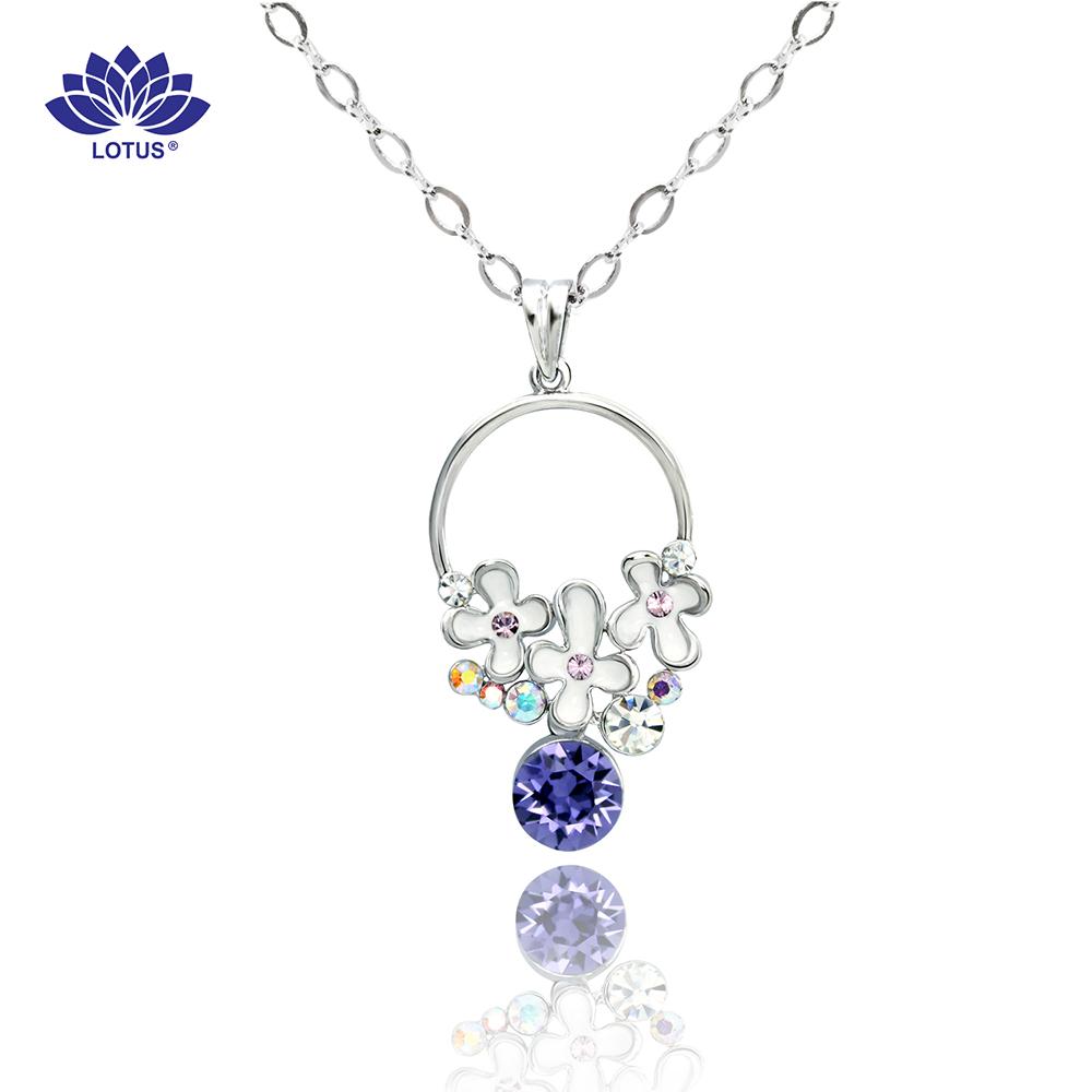 【LOTUS】 紫鑽花漾項鍊