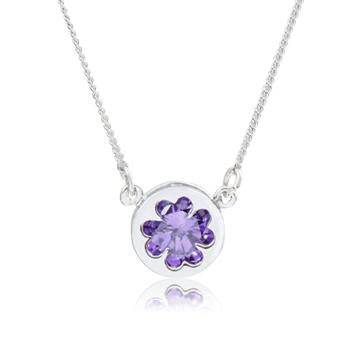 【專櫃熱銷款】LOTUS 紫晶幸運草項鍊