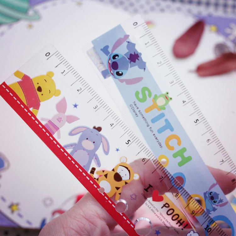 PGS7 迪士尼系列商品 - 迪士尼 小熊維尼 Winnie 史迪奇 Stitch 15cm 洞洞尺 尺【SHU7036】