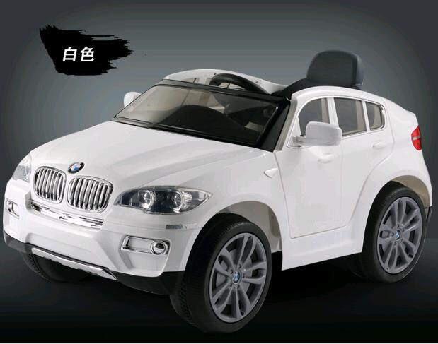 【淘氣寶寶】原廠授權 寶馬BMW X6 緩起步雙驅 遙控電動車(白) 【贈純植物精油防蚊液 60ml】