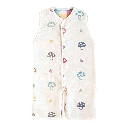 ★衛立兒生活館★日本 Hoppetta 蘑菇六層紗成長型睡褲