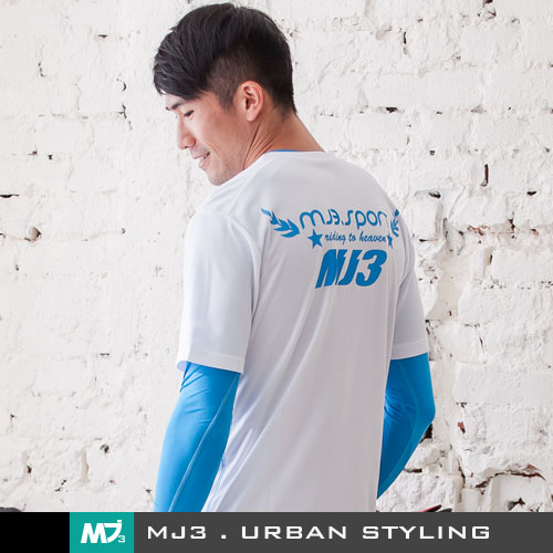 【MJ3】騎向自由吸排圓領短Tee-男(經典白) 排汗衫 排汗衣 短T 短袖T恤 短袖上衣 台灣製