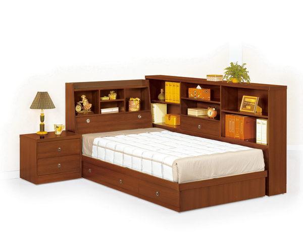 【石川家居】CM-201-6 羅爾3.5尺胡桃色書架型床頭箱 (不含其他商品) 需搭配車趟