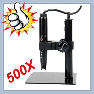 SuperEyes 電子數位顯微鏡 / 電子顯微鏡500X / 500萬畫素 / 附升降支架 SE-B008