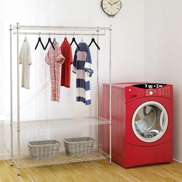 [LaMall優質生活館]☆免運費☆『防鏽防刮超亮鍍膜』小資型46x122x180h衣櫥(含布套)/衣櫥/衣櫃/鞋櫃