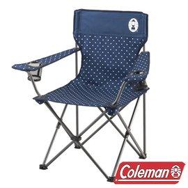 Coleman 圓點海軍藍渡假休閒椅/CM-26736
