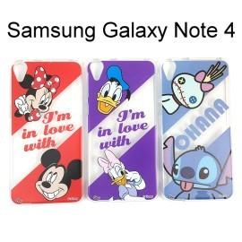 迪士尼透明軟殼 Samsung Galaxy Note 4 N910U [最佳拍檔] 唐老鴨 史迪奇【Disney正版授權】