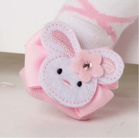 【HELLA 媽咪寶貝】美國 Mud Pie 時尚造型棉襪/止滑襪/假鞋襪/嬰兒襪 兔子造型(MPSG1-01)