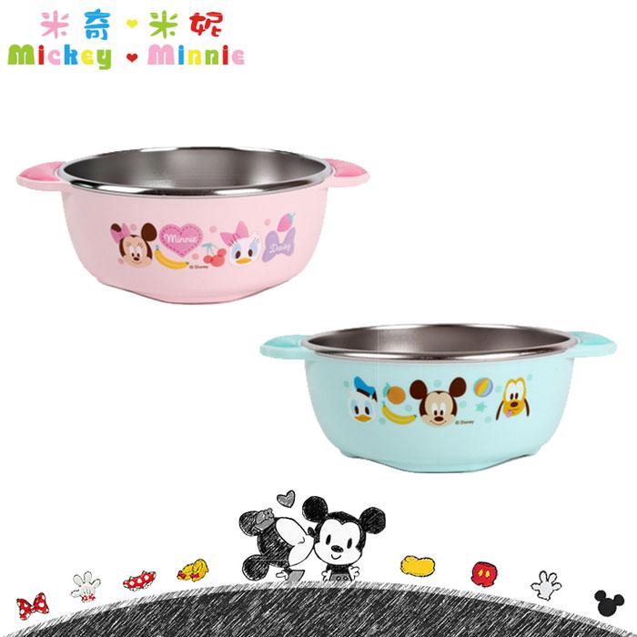 大田倉 韓國進口正版 Disney 迪士尼 米奇 Mickey 米妮 Minnie 不鏽鋼雙耳碗 兒童碗