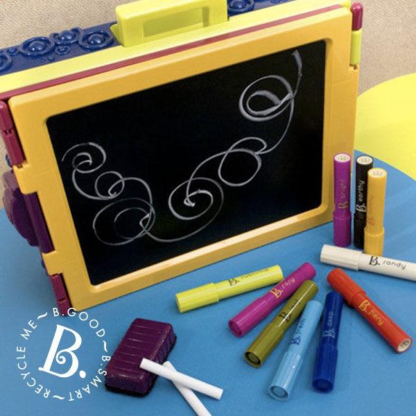 【淘氣寶寶】美國B.Toys感統玩具- 沃客旅行小畫架.攜帶式畫畫箱